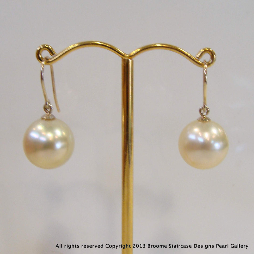9ct Broome Pearl Earrings - Broome Staircase Designs Pearl Gallery