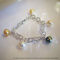 South Sea Pearl Bracelet Sterling Silver - Broome Staircase Designs Pearl Gallery