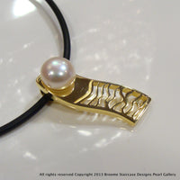 Staircase Pearl Pendant Red Bluff (white,e/p)**FREE NEOPRENE NECKLACE! - Broome Staircase Designs Pearl Gallery