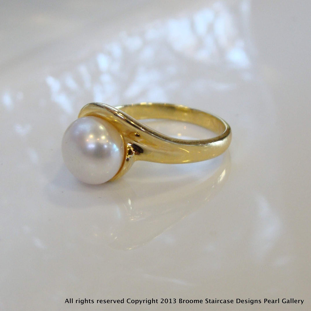 Freshwater Pearl Ring - Broome Staircase Designs Pearl Gallery
