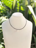 Cultured White Pearl Multi Strand Wire Necklace