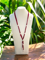 Cultured Pearl Silk Ribbon Lariat Necklace