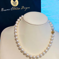 White Shell Based Pearl Necklace