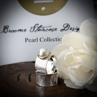 Cultured Broome Pearl Ring Sterling Silver Ocean Ring