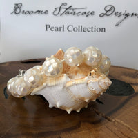 Shell Pearl with Mother of Pearl Inlay Strand Bracelet