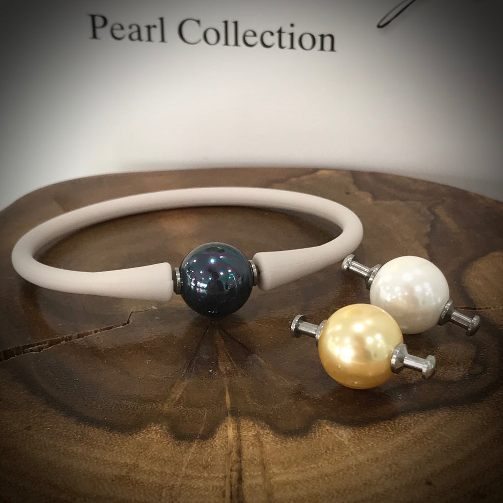 Easy Fit Shell Pearl Silicone Bracelet 3 x Pearl Colours!