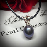 Cultured Freshwater Black Pearl Pendant Sterling Silver