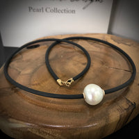 9ct South Sea Pearl Neoprene Necklace