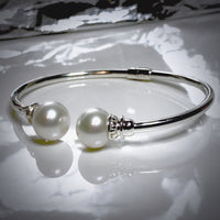 Cultured Double Pearl Bangle