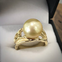 Golden South Sea Pearl 9ct Gold Ring