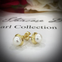 Cultured Freshwater White Pearl Studs