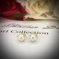 Cultured Freshwater Petite White Pearl Studs