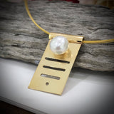 9ct Solid Gold Staircase to the Moon Pearl Pendant