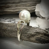 9ct White Gold Broome Pearl Ring