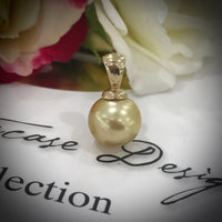 9ct Golden South Sea Pearl Pendant