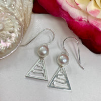 Cultured Freshwater 925 Staircase Pearl Earrings