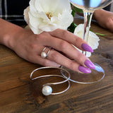 Stunning Broome Pearl Half Moon Cuff Bangle and Ring