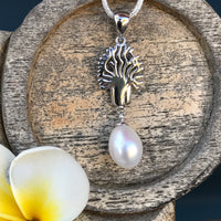 Boab Tree Pearl Pendant Sterling Silver