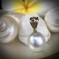 Broome Pearl Pendant 9ct Yellow Gold Bail