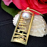 18ct Staircase to the Moon Pearl Pendant Kimberley