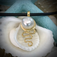 Cultured Freshwater Pearl Cable Beach Staircase to the Moon Pendant