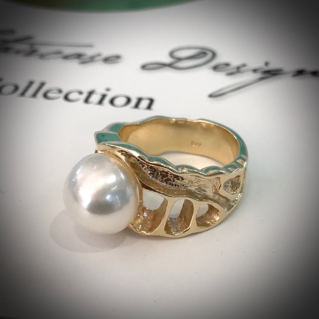 Broome Pearl Gold Ring