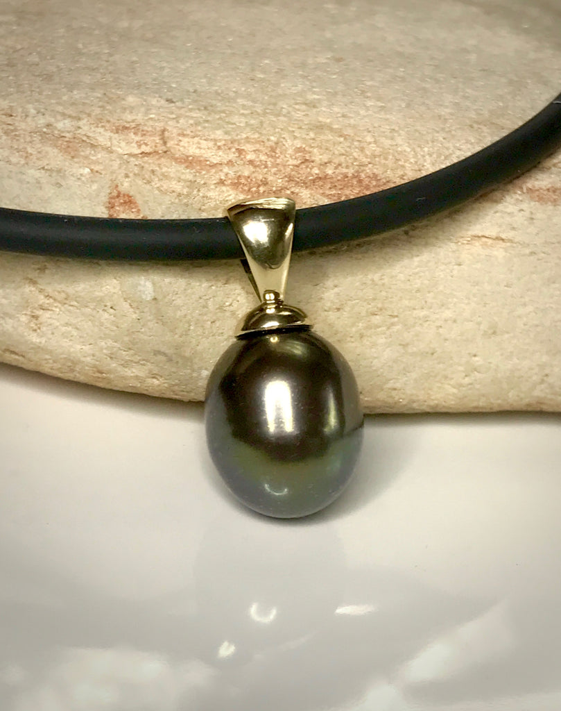 Cultured Freshwater Black Pearl Pendant