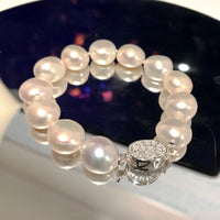 Cultured Freshwater Pearl Bracelet Sterling Silver Safety Clasp
