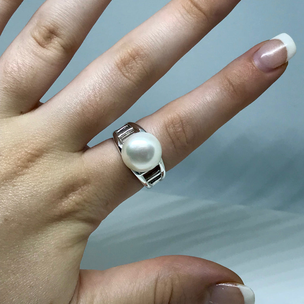 Broome South Sea Pearl  Staircase to the Moon Design Ring