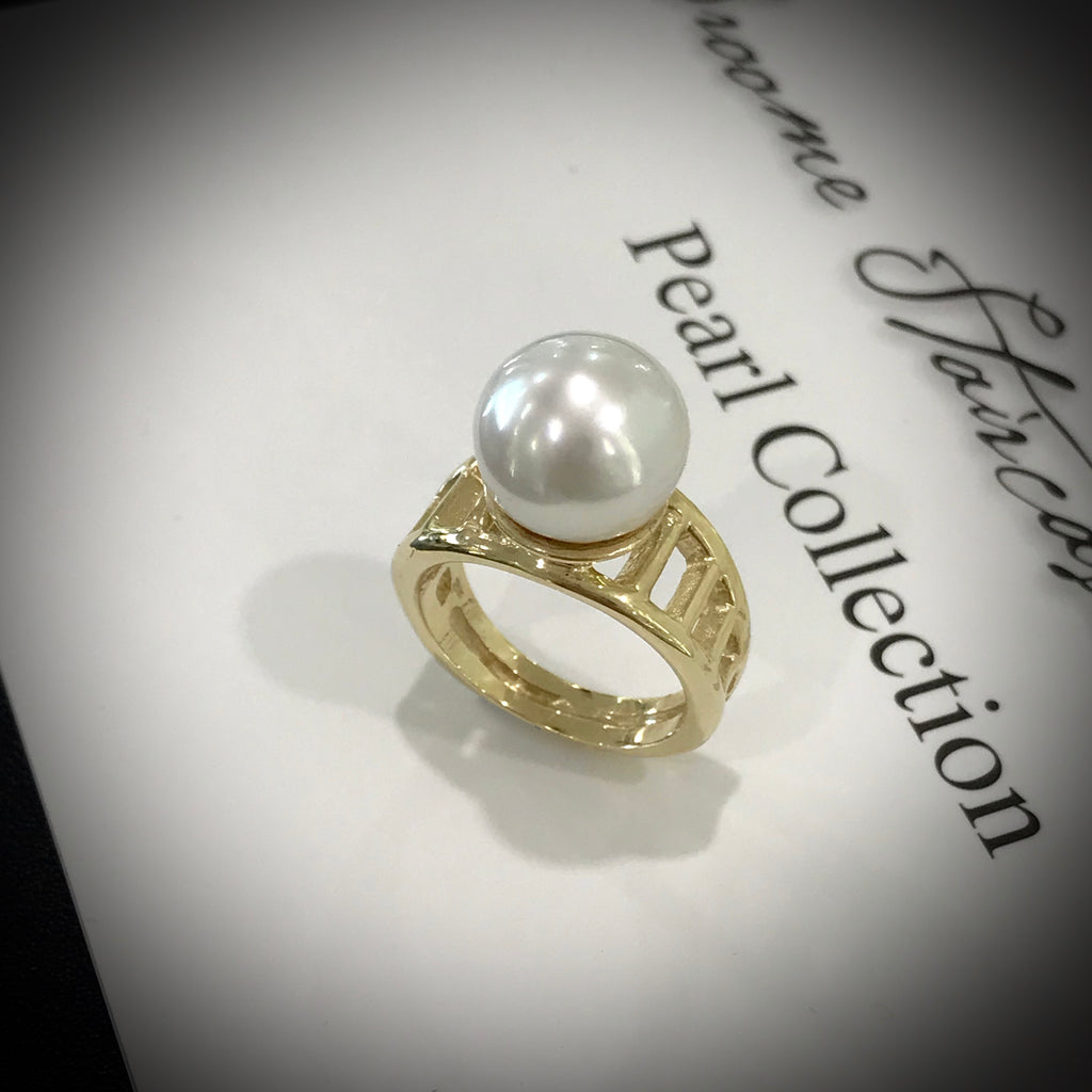 Staircase to the Moon Pearl Ring Design