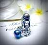 Cultured Freshwater Black Pearl Staircase to the Moon Ring