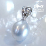 Cultured Freshwater Pearl Sterling Silver Heart Pendant