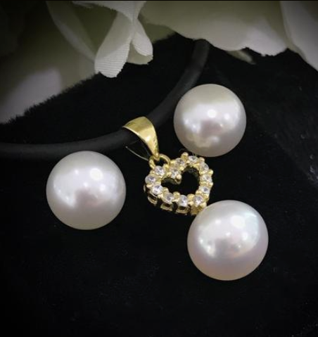 0c66414664dfc South Sea Pearl Pendant & Earring Set for Mothers Day