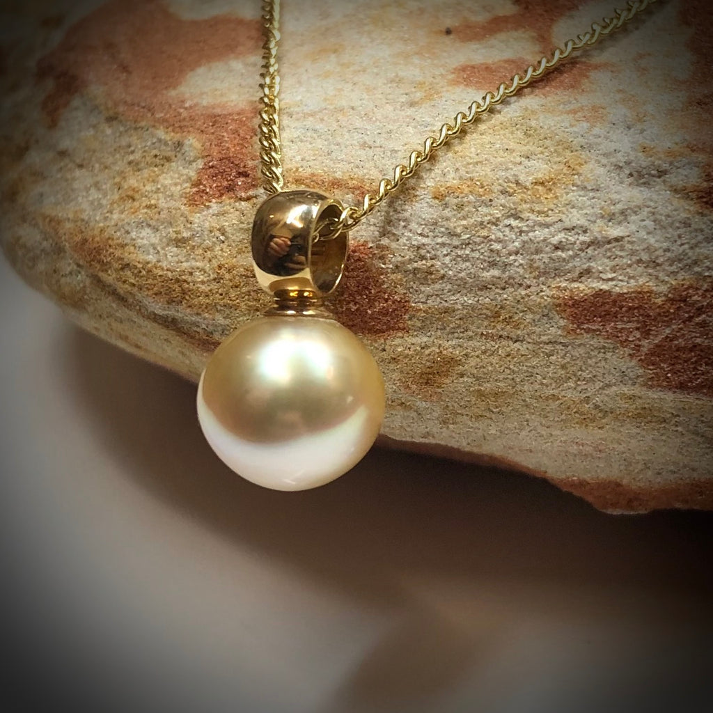 18ct Golden South Sea Pearl Pendant