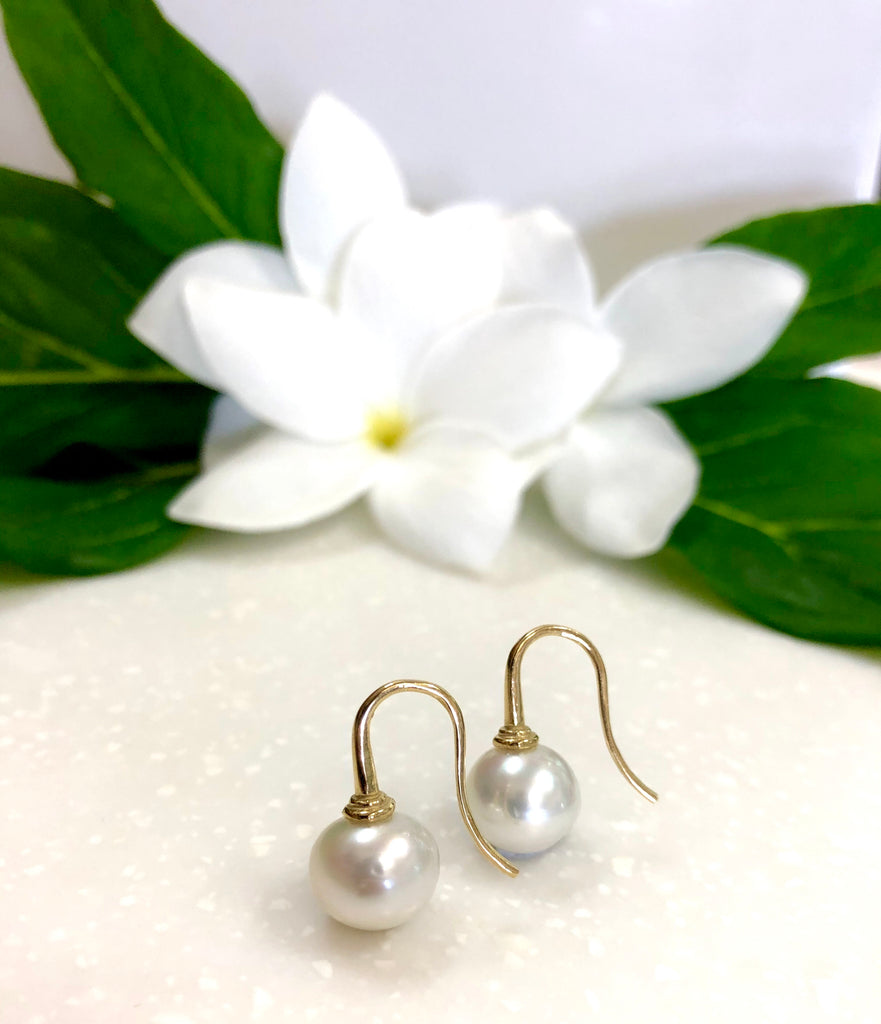 Broome Pearl Earrings 18ct Yellow Gold