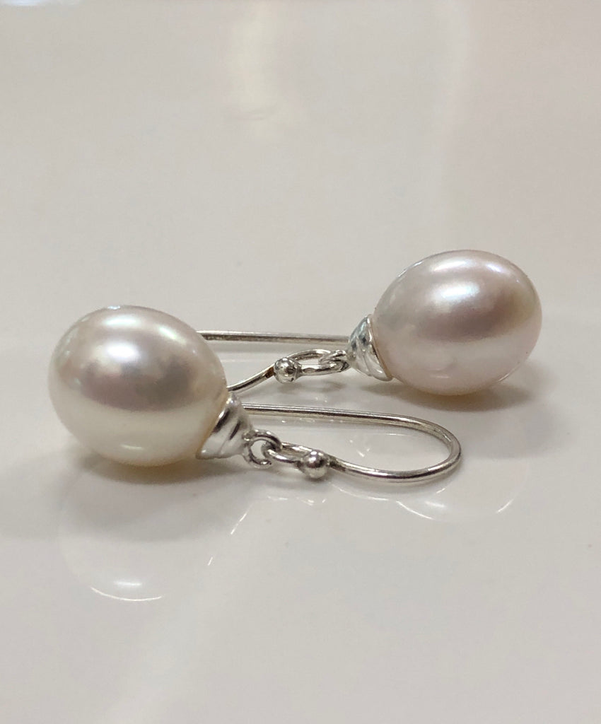 Cultured Freshwater Pearl Earrings Sterling Silver