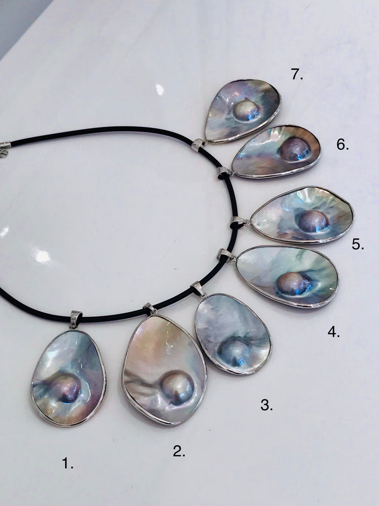 Stunning Mabe Cultured Pearl Pendant