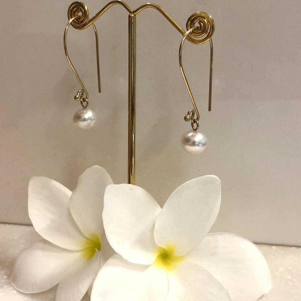 Broome Pearl Earrings 9ct Yellow Gold