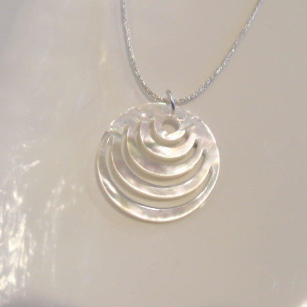 Mother of Pearl Pendant Small Circles