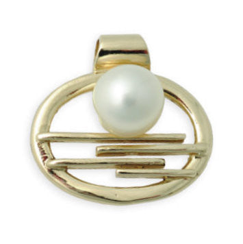 Broome Pearl Pendant Horizontal Falls Staircase 9ct Yellow Gold