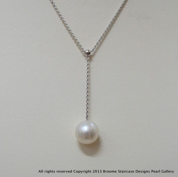 18ct Broome Pearl Necklace White Gold