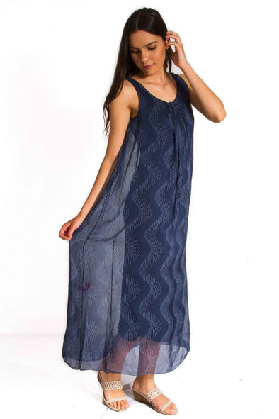 The Italian Closet Xena Patterned Silk Maxi Dress