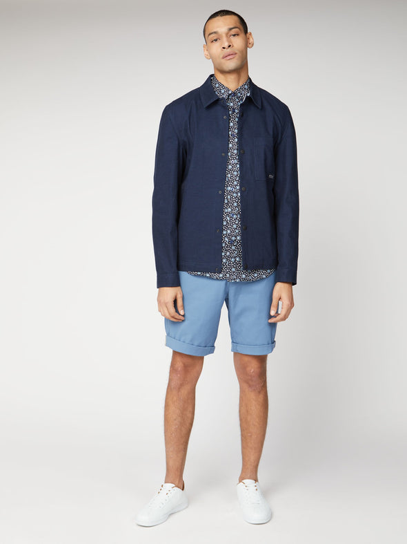 Ben Sherman Slim Stretch Chino Shorts - Marine
