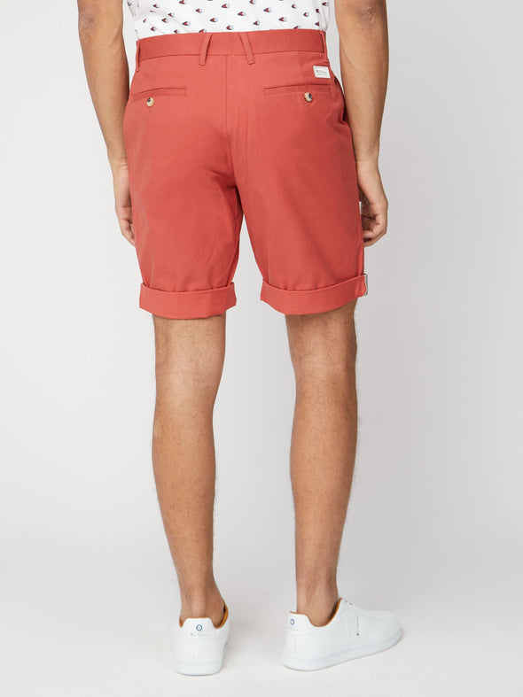 Ben Sherman Slim Stretch Chino Shorts - Terracotta