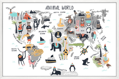 Around the World Animal Canvas Print
