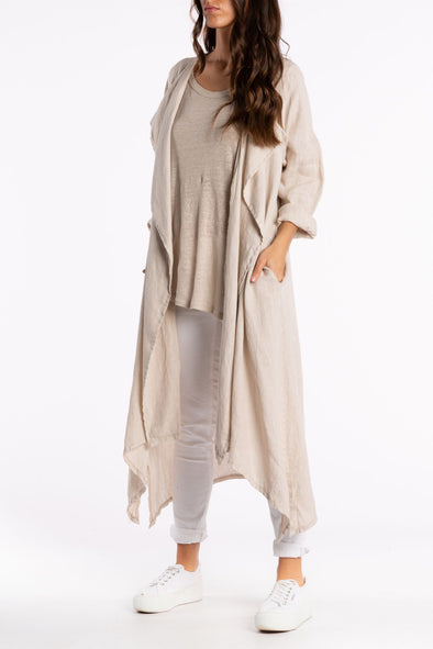 Lana Linen Waterfall Wrap