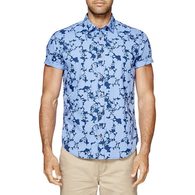 Ben Sherman Short Sleeve Shirt - Floral Shadow Mod