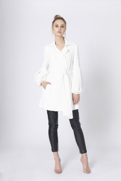 White Horizon Coat