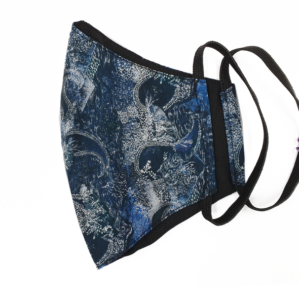 Liberty Art Merino Lined Face Mask - Abstract Paisley