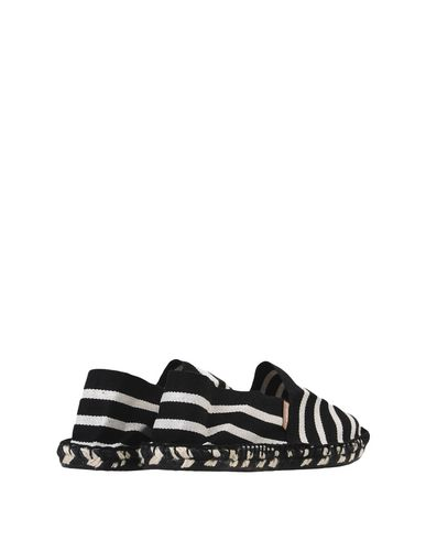 Espadrij L'Originale Zebre 'Noir/Ecru' Stripe Slip On